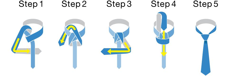 ネクタイの結び方図解